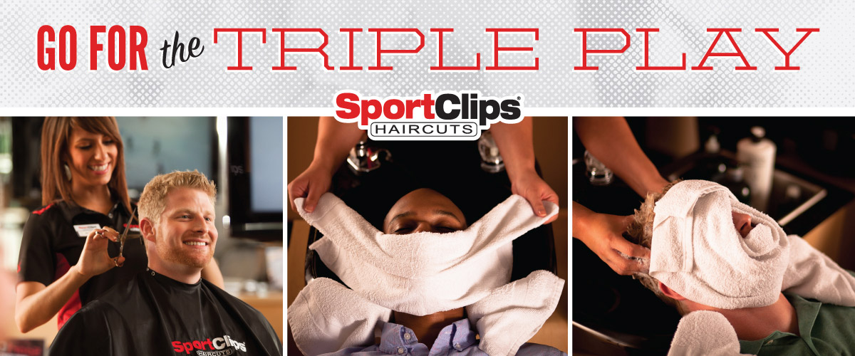 The Sport Clips Haircuts of Yakima Orchards  Triple Play